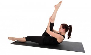 Pilates Methode - single straight leg strech